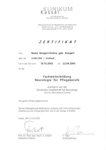 Fachkrankenschwester Kassel HP Bangert Kühne